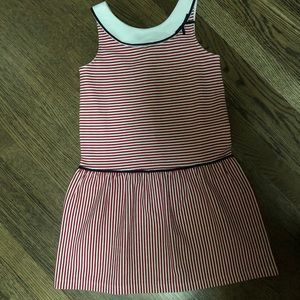Barely used Janie & jack red/white striped dress